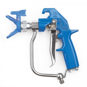 GRACO Heavy-Duty Blue Texture Airless Spray Gun, 4 Finger Trigger, RAC X-241705