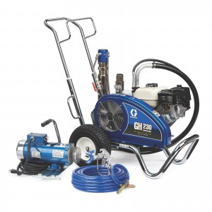 GRACO GH 230 Convertible Standard Series Gas Hydraulic Airless Sprayer with Electric Motor Kit - 24W930