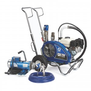 GRACO GH 200 Convertible ProContractor Series Gas Hydraulic Airless Sprayer with Electric Motor Kit - 24W928