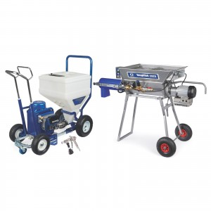 GRACO TexSpray T-MAX 6912 Electric Texture Sprayer, STX Gun, 100 ft Hose, Continuous Feed Mixer - 17Z703